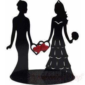 Silhouette spose cake toppers